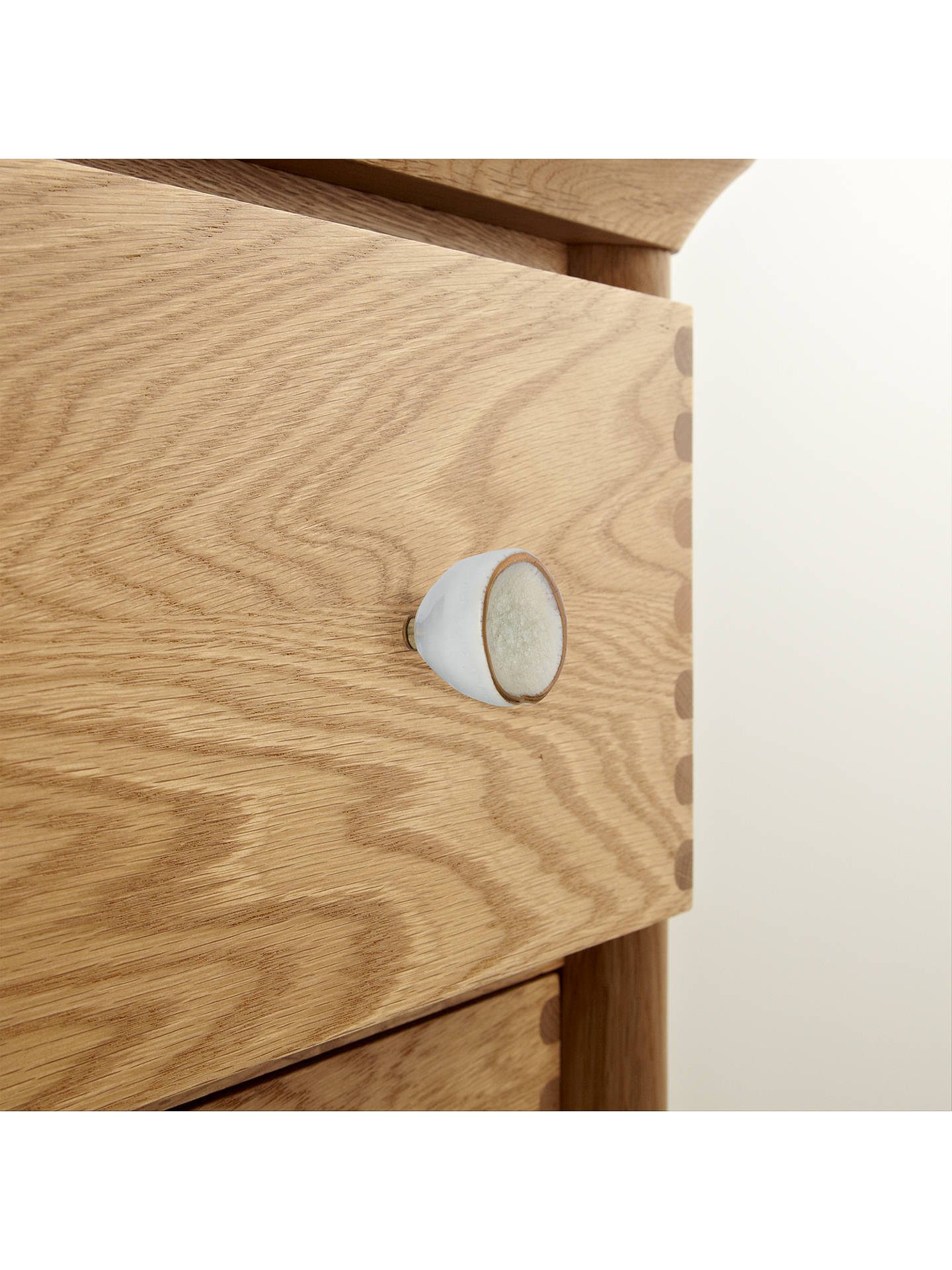 Buy John Lewis & Partners Crackle Ceramic Cupboard Knob, Ivory Online at johnlewis.com