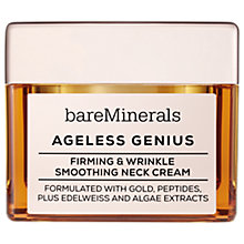 Buy bareMinerals Ageless Genius Firming & Wrinkle Smoothing Neck Cream Online at johnlewis.com