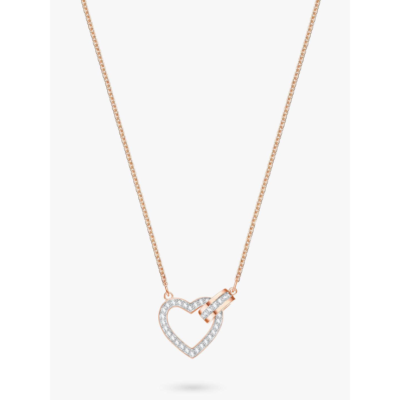 Swarovski lovely crystal heart pendant necklace at john lewis buyswarovski lovely crystal heart pendant necklace rose gold online at johnlewis aloadofball Choice Image