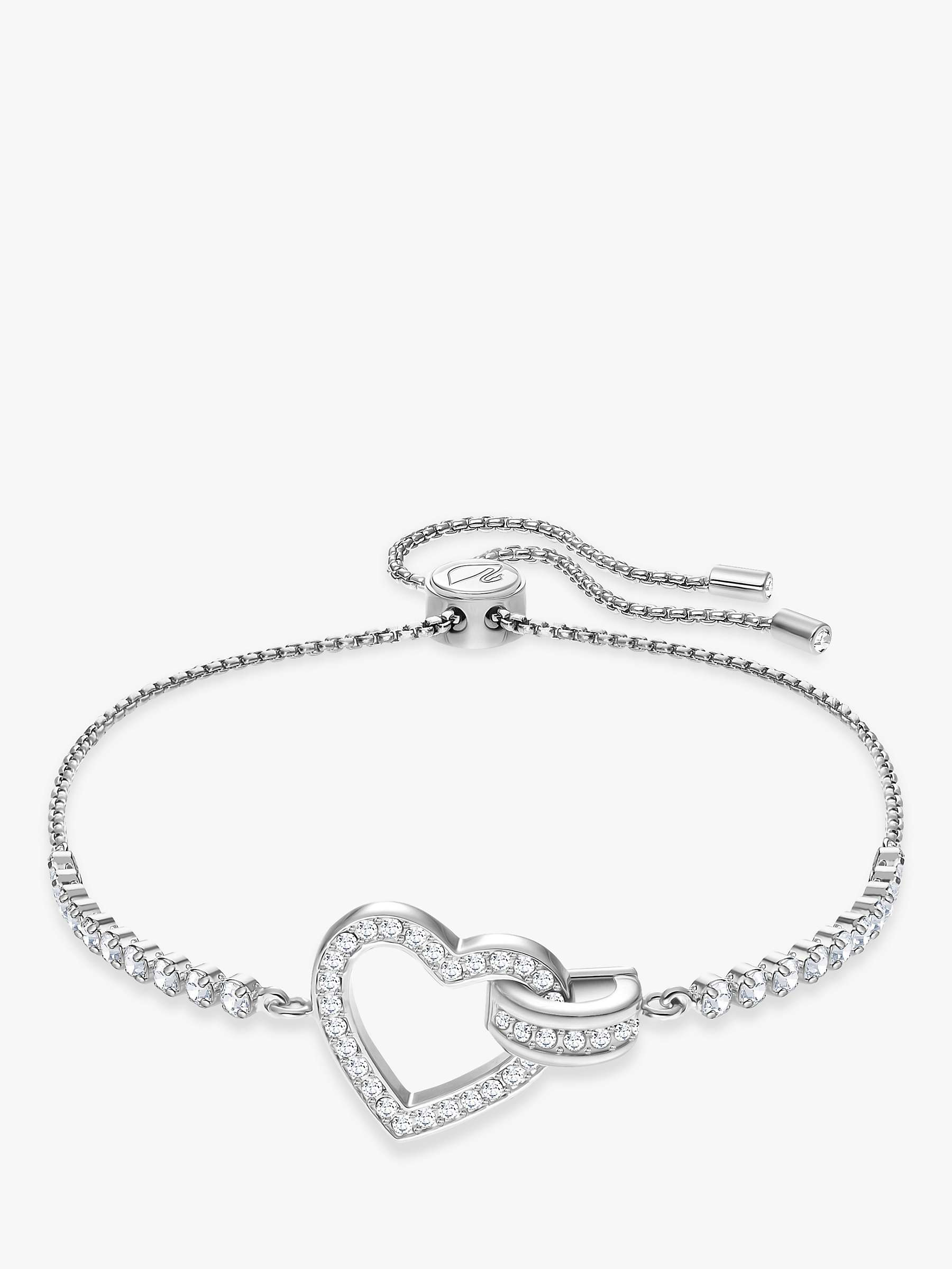 Swarovski Lovely Crystal Heart Bracelet Silver At John