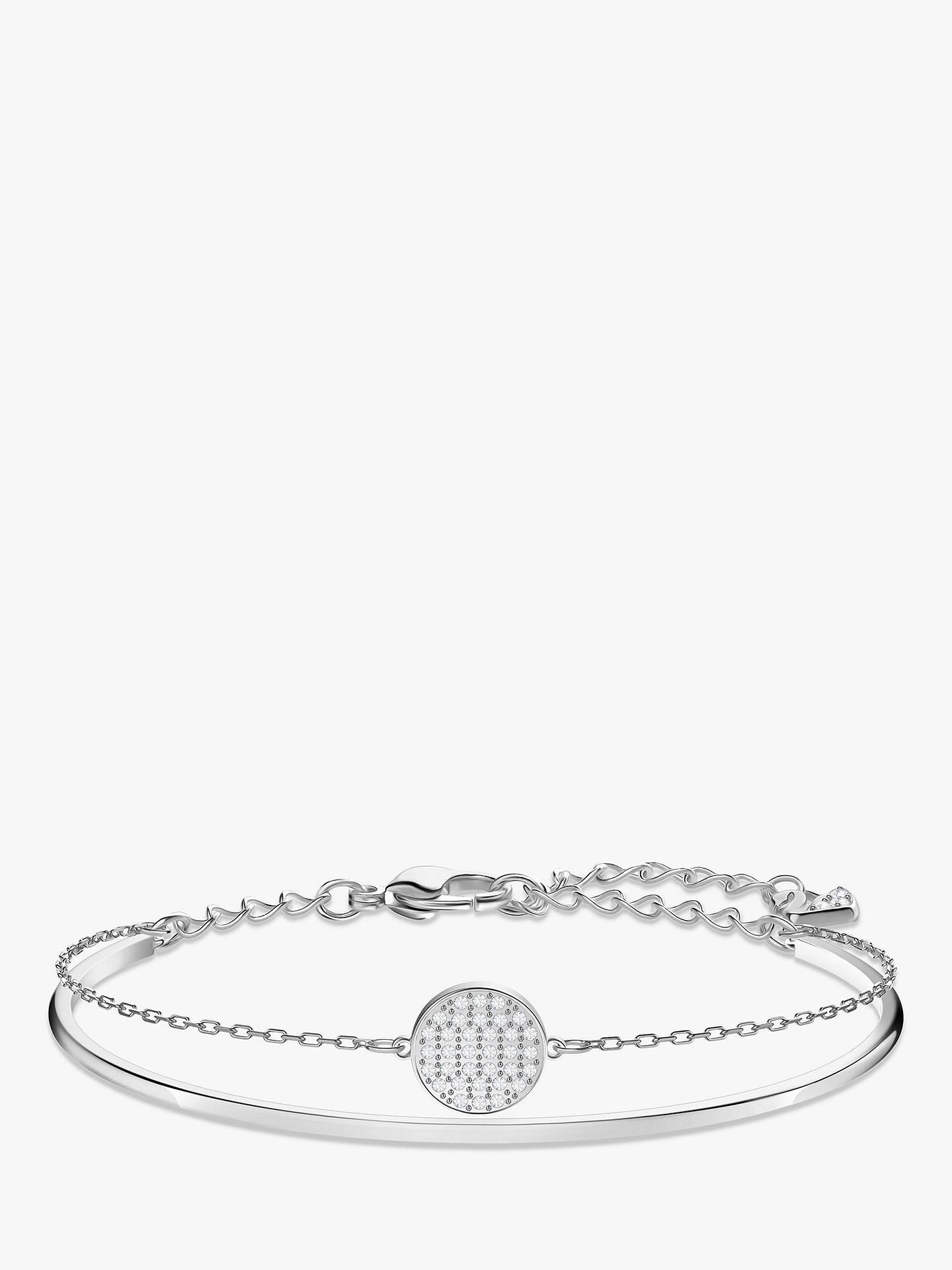a21ffb577 Buy Swarovski Ginger Crystal Charm Double Bracelet, Silver Online at  johnlewis.com ...