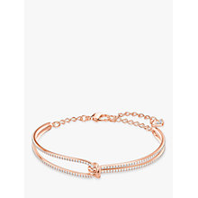 Buy Swarovski Lifel Crystal Knot Bangle Online at johnlewis.com