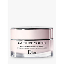Buy Dior Capture Youth Age-Delay Advanced Creme, 50ml Online at johnlewis.com