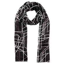 Buy Jigsaw Road Map Silk Scarf, Multi Online at johnlewis.com