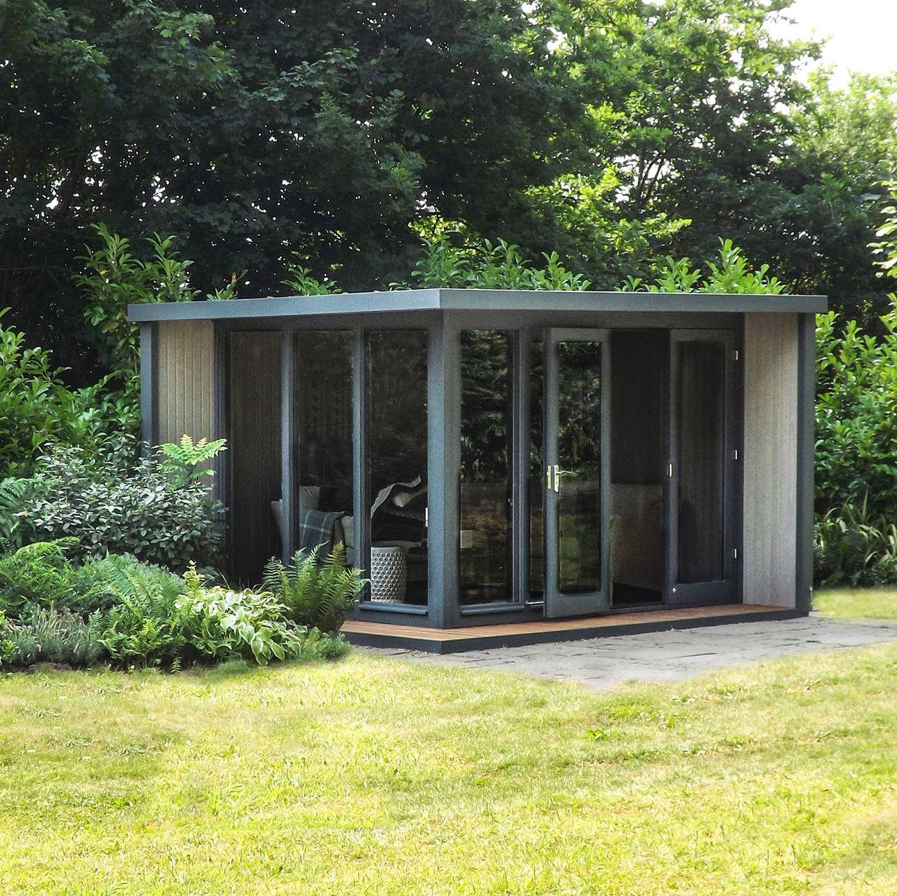 Crane Crane 3 x 3.6m The Hub Outdoor Right-Hand Corner Studio, FSC-Certified (Scandinavian Redwood)