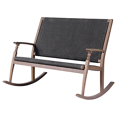 LG Outdoor Panama Double Rocker Chair, FSC-Certified (Acacia Wood)