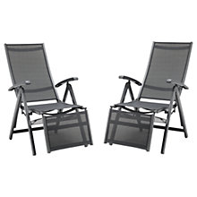 Buy KETTLER Surf Multi Relaxer Adjustable Sunloungers, Grey, Set of 2 Online at johnlewis.com