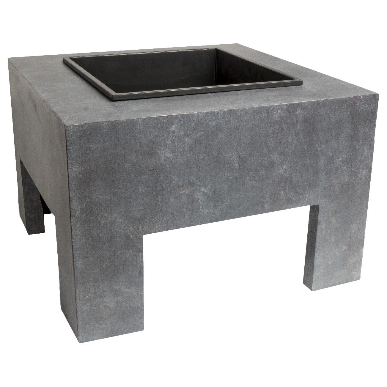 Ivyline Ivyline Square Firepit, Grey/Black