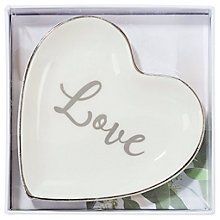 Buy Talking Tables Ceramic Love Ring Dish Online at johnlewis.com