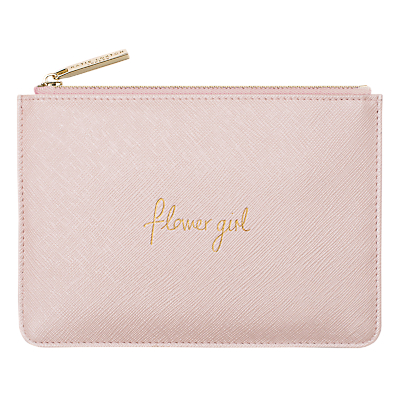 Katie Loxton 'Flower Girl' Perfect Pouch, Baby Pink