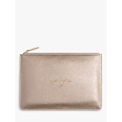 Katie Loxton 'Just Married' Perfect Pouch, Metallic