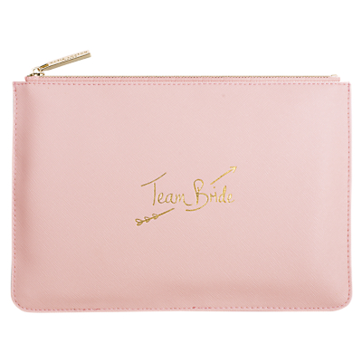 Katie Loxton 'Team Bride' Perfect Pouch, Pink