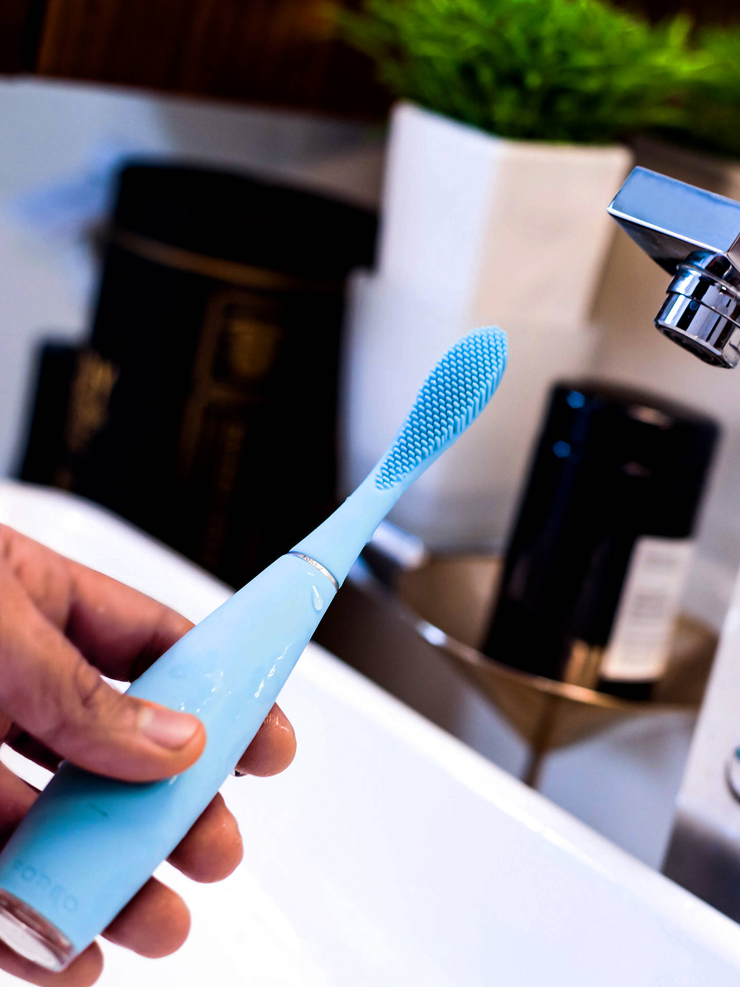 Buy FOREO Issa 2 Silicone Sonic Toothbrush Sensitive Set, Mint Online at johnlewis.com