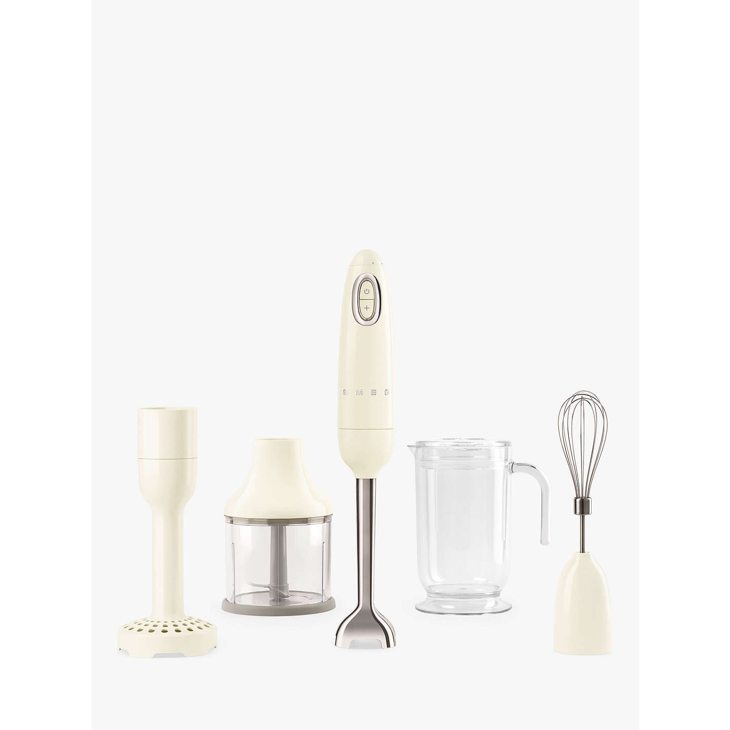 BuySmeg HBF02CRUK 50's Retro Style Hand Blender, Cream Online at johnlewis.com