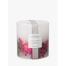 Buy Stoneglow Pink Pepper Flowers Scented Pillar Candle Online at johnlewis.com