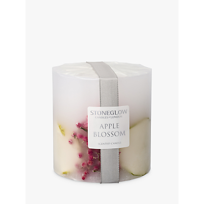 Stoneglow Apple Blossom Scented Pillar Candle