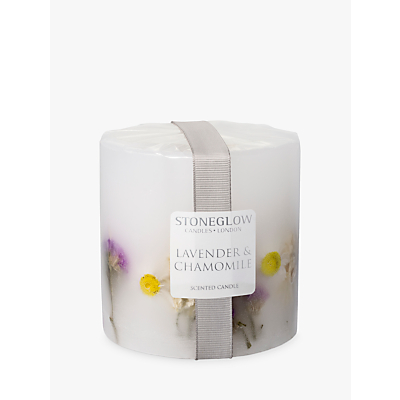 Stoneglow Pillar Lavender & Chamomile Scented Pillar Candle