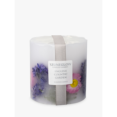 Stoneglow English Country Garden Scented Pillar Candle