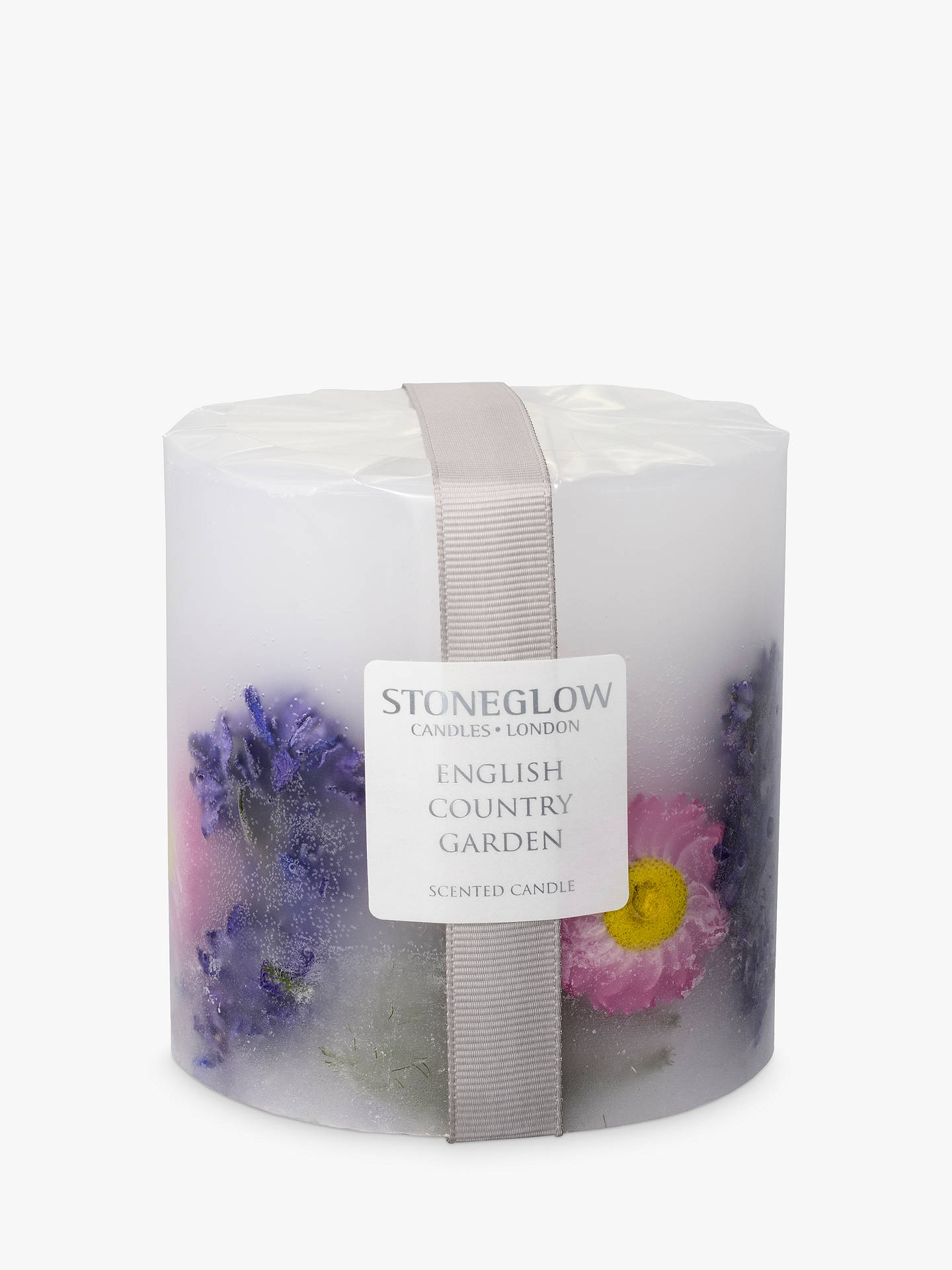 BuyStoneglow English Country Garden Scented Pillar Candle Online at johnlewis.com