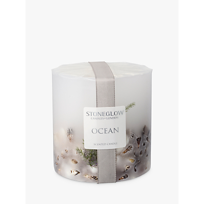 Stoneglow Ocean Scented Pillar Candle