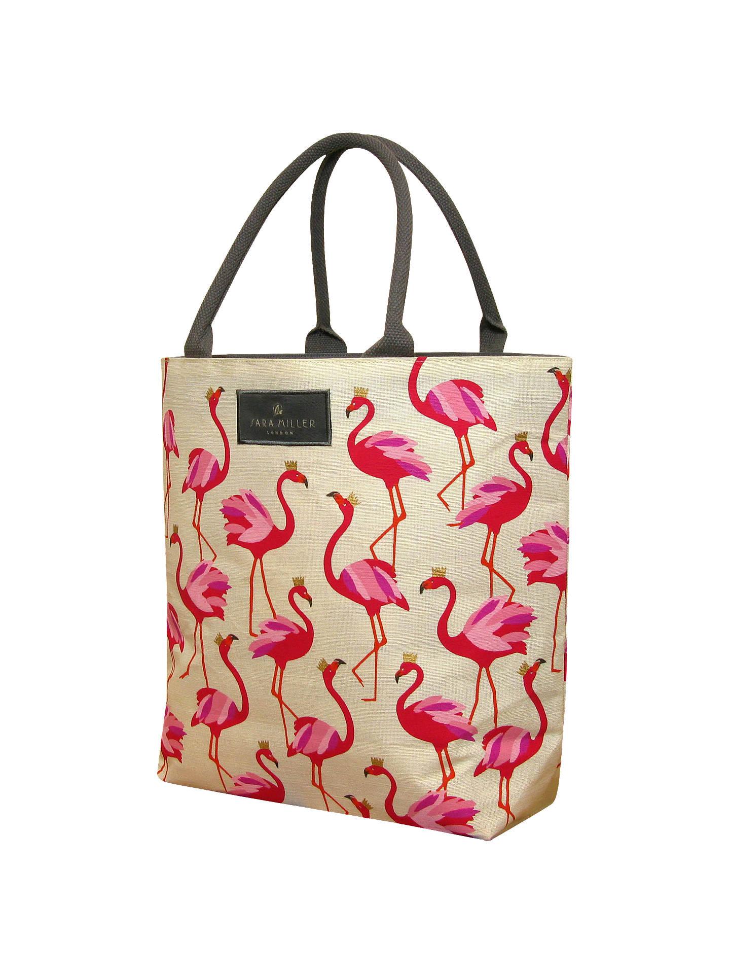 Sara Miller Flamingo Tote Bag Pink Online At Johnlewis