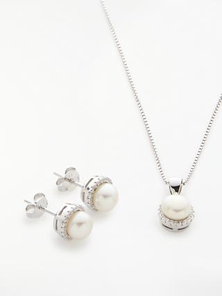 Lido Necklace and Earring Set, White