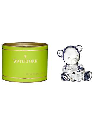 Waterford Giftology Crystal Baby Bear with Block, Clear