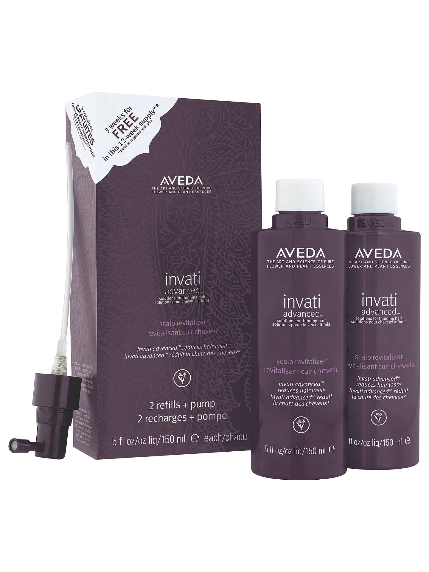 BuyAVEDA Invati Advanced™ Scalp Relitalizer Duo, 2 x 150ml Online at johnlewis.com