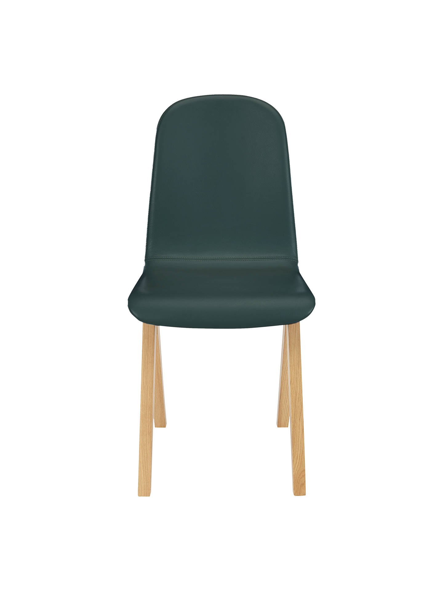 Buy Bethan Gray for John Lewis Newman Leather Upholstered Dining Chair, Green Online at johnlewis.com