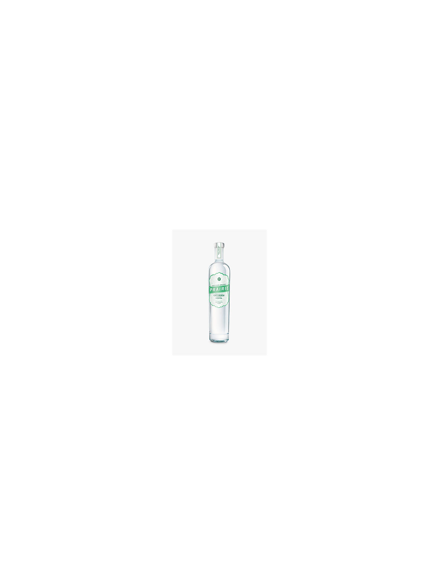 Buy Prairie Organic Cucumber Vodka, 70cl Online at johnlewis.com