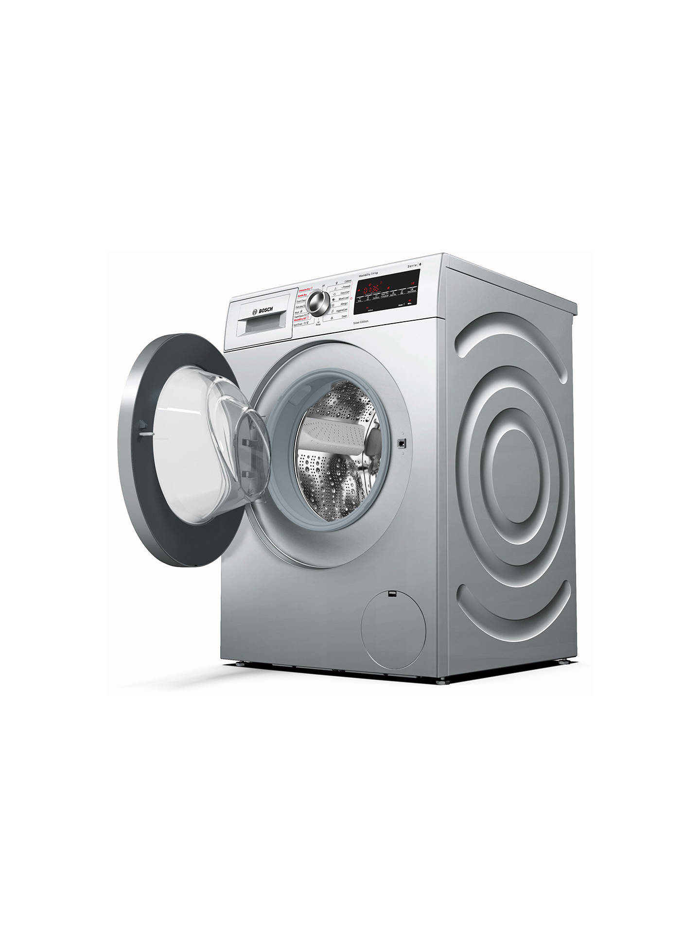 BuyBosch WVG3047SGB Freestanding Washer Dryer, 7kg Wash/7kg Dry Load, A Energy Rating, 1500rpm Spin, Silver Online at johnlewis.com