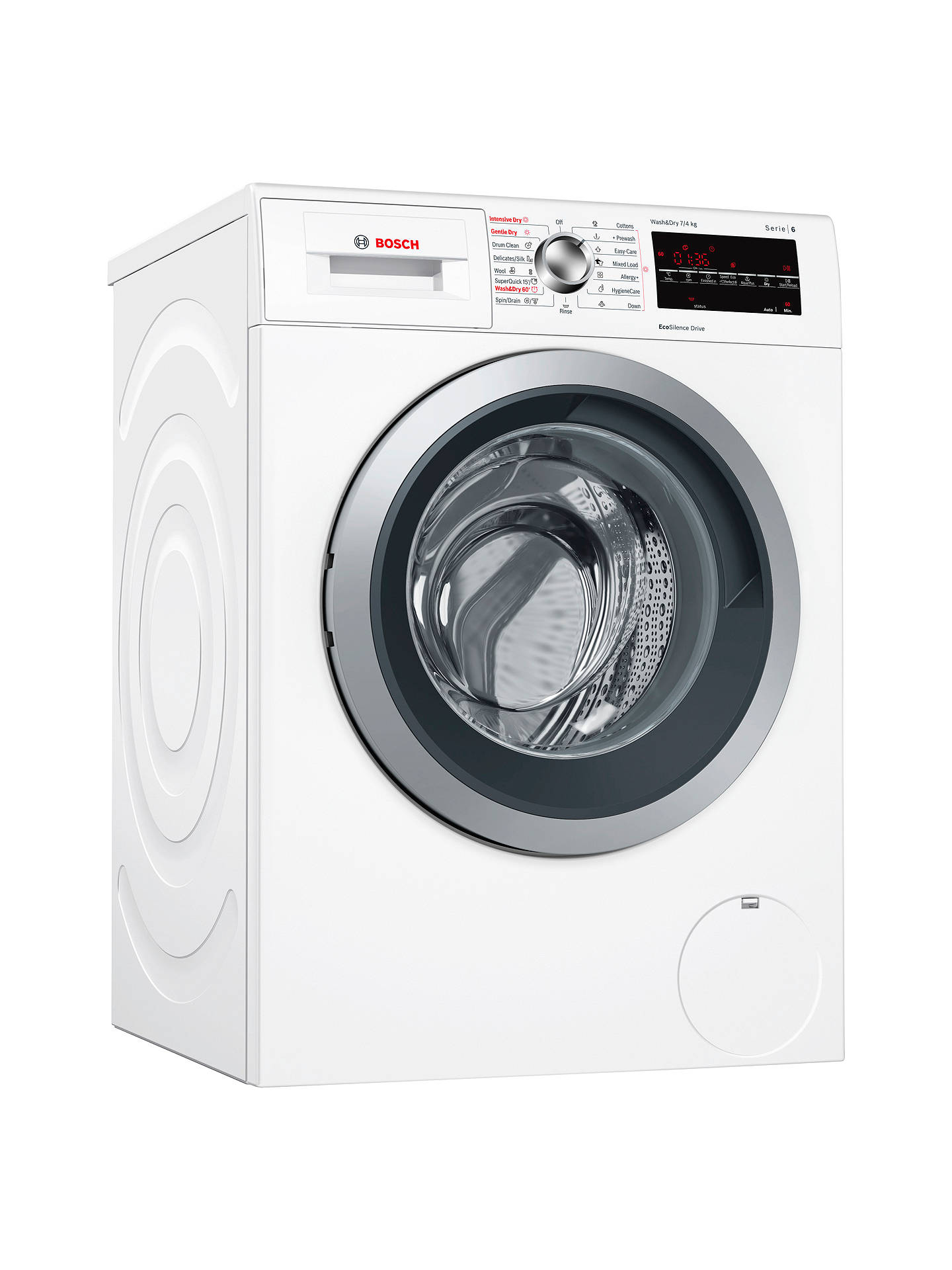 Bosch WVG30462GB Serie 6 Freestanding Washer Dryer, 7kg Wash/4kg Dry Load, A Energy Rating, 1500rpm Spin, White