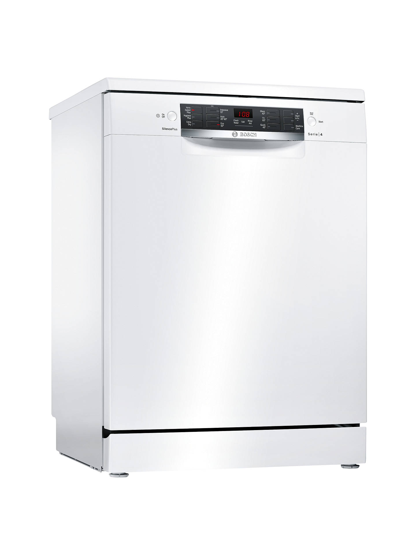 BuyBosch SMS46IW05G Freestanding Dishwasher, White Online at johnlewis.com