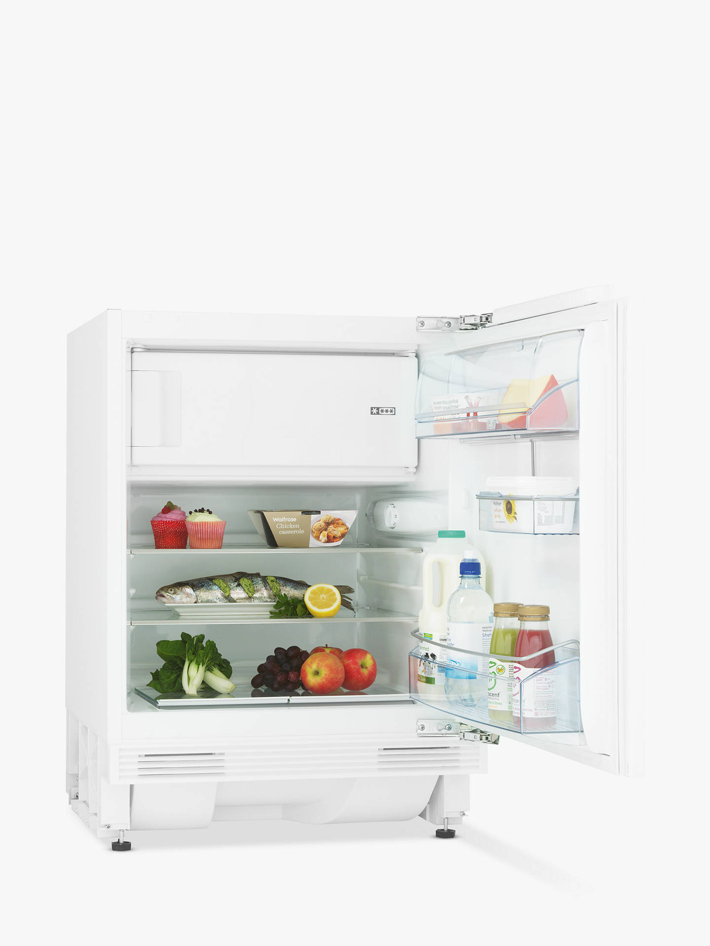 John Lewis Partners Jlbiucfr07 Integrated Undercounter Fridge With Freezer Compartment A Energy Rating