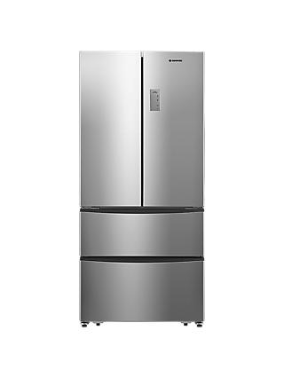 Hoover HMN7182 Freestanding American Style Fridge Freezer,  A+ Energy Rating, 70cm Wide