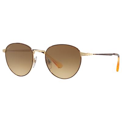 Persol PO2445S Oval Sunglasses, Tortoise/Brown Gradient