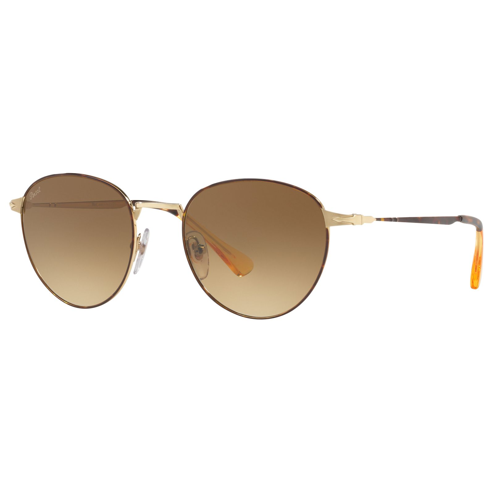 Persol Persol PO2445S Oval Sunglasses, Tortoise/Brown Gradient