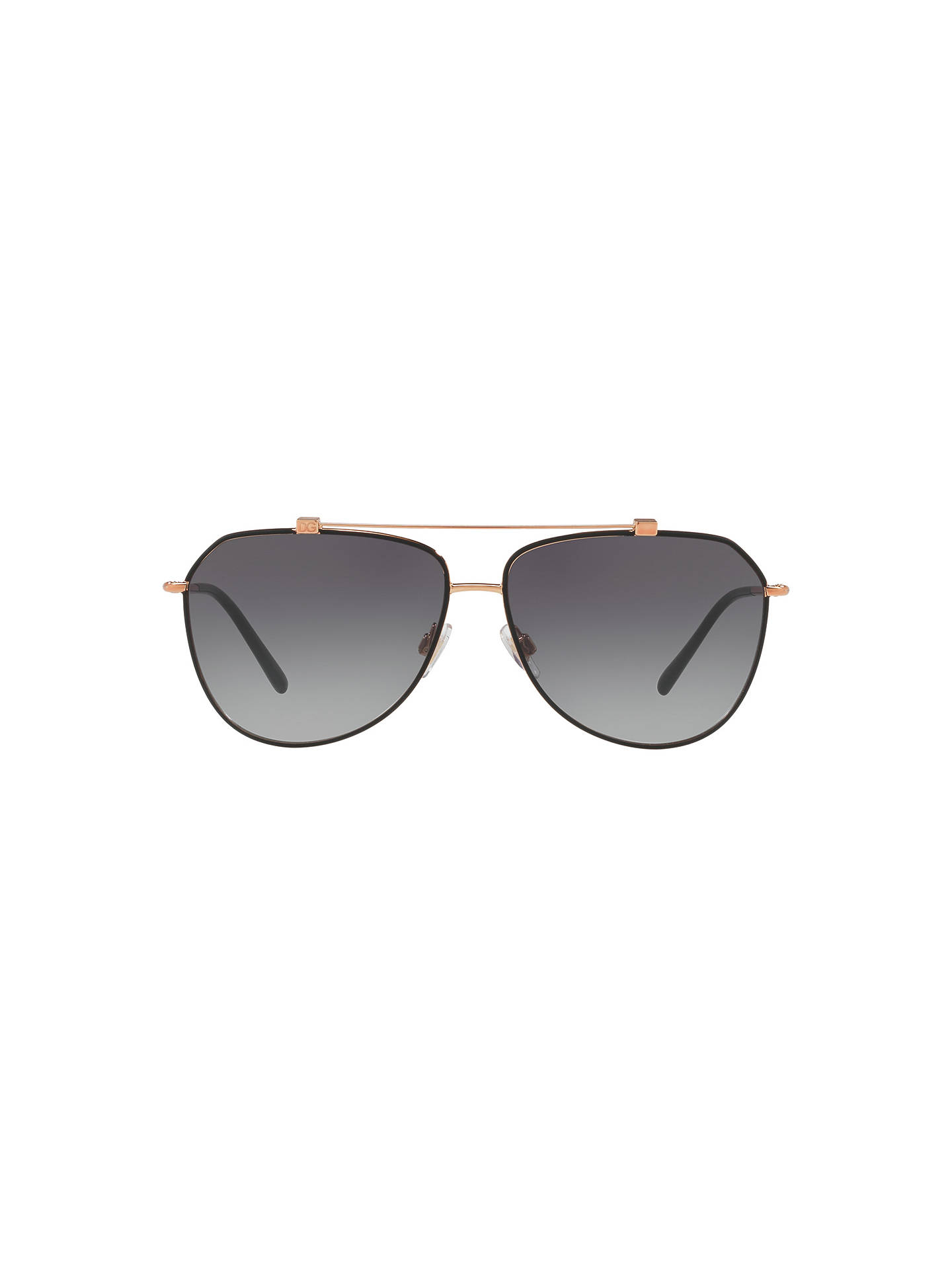 BuyDolce & Gabbana DG2190 Aviator Sunglasses, Gry Grd Online at johnlewis.com