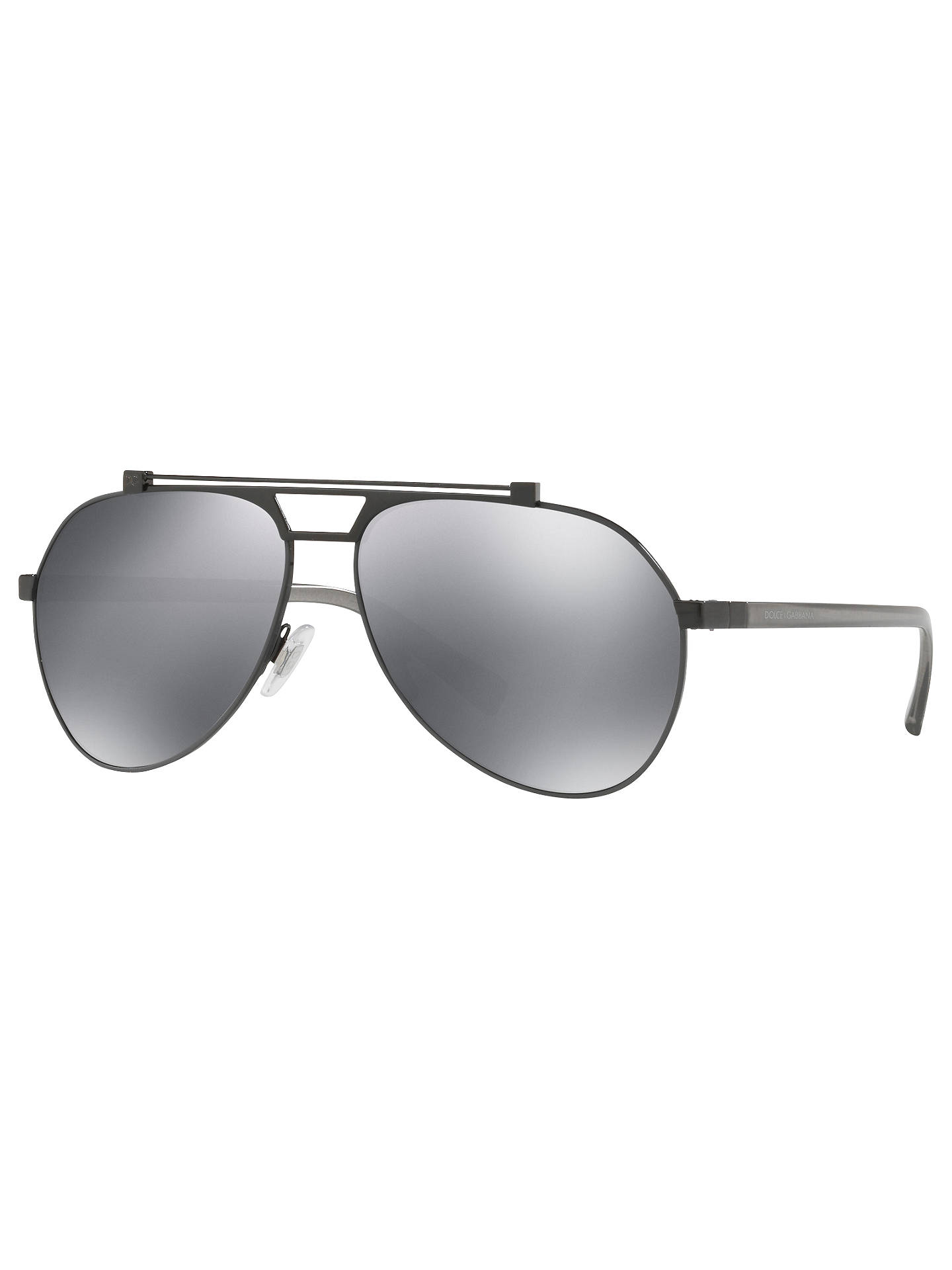 51e7bbf5154b Dolce   Gabbana DG2189 Aviator Sunglasses at John Lewis   Partners