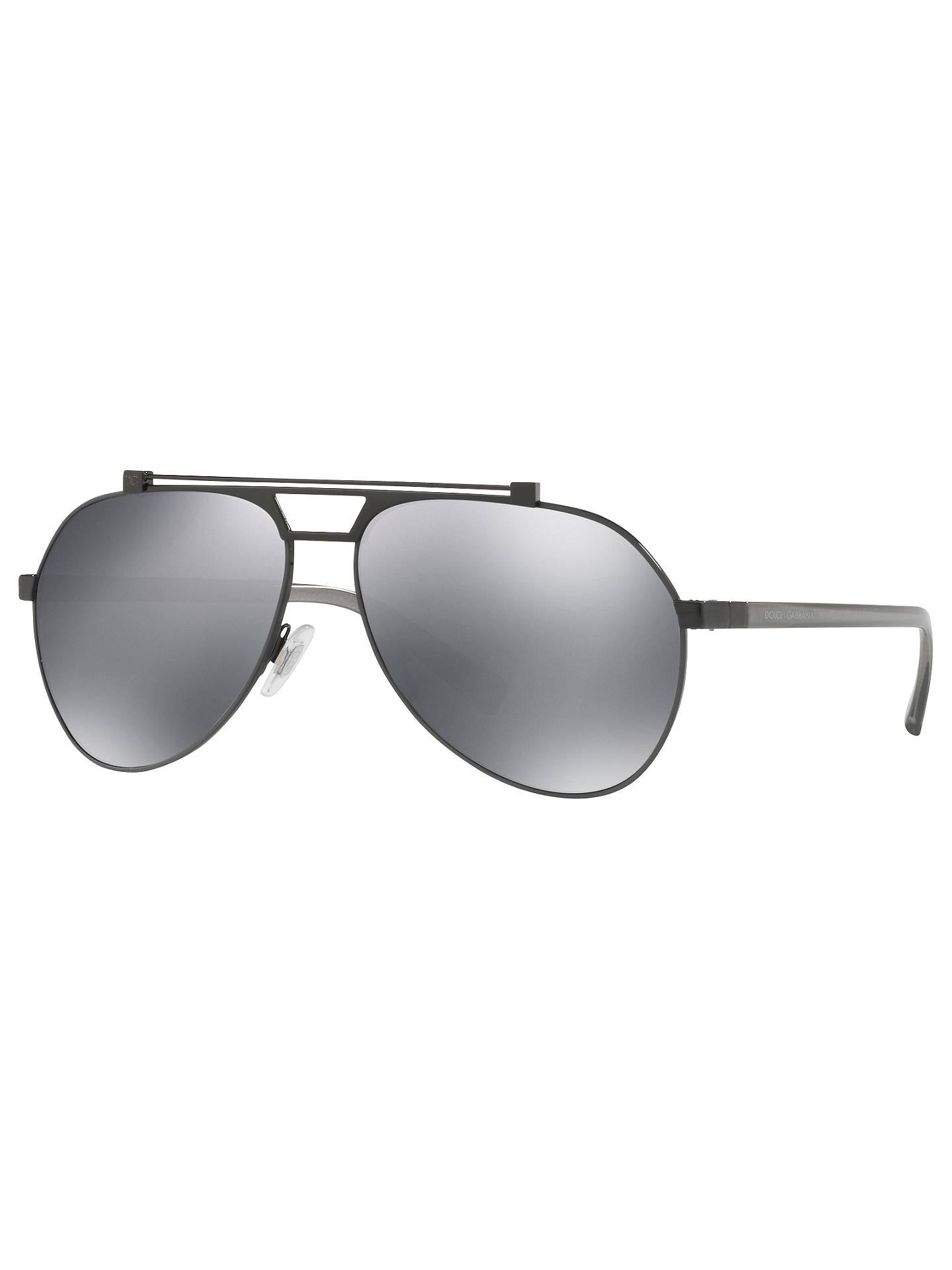 bacb76b2aa5 Dolce   Gabbana DG2189 Aviator Sunglasses at John Lewis   Partners