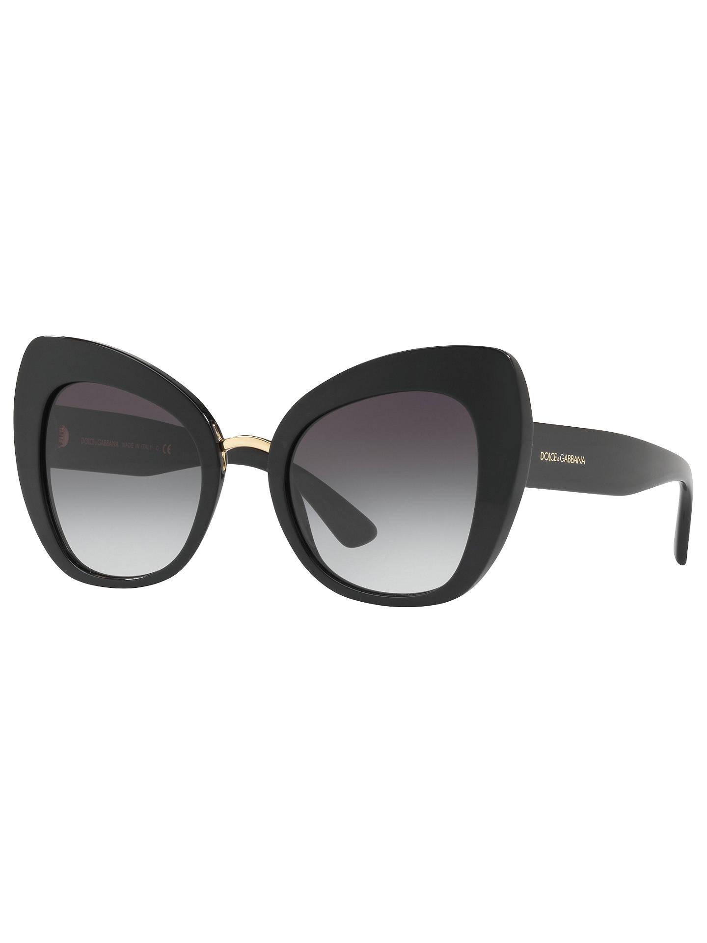 abde6786b0 Buy Dolce & Gabbana DG4319 Cat's Eye Sunglasses, Black/Grey Gradient Online  at johnlewis ...