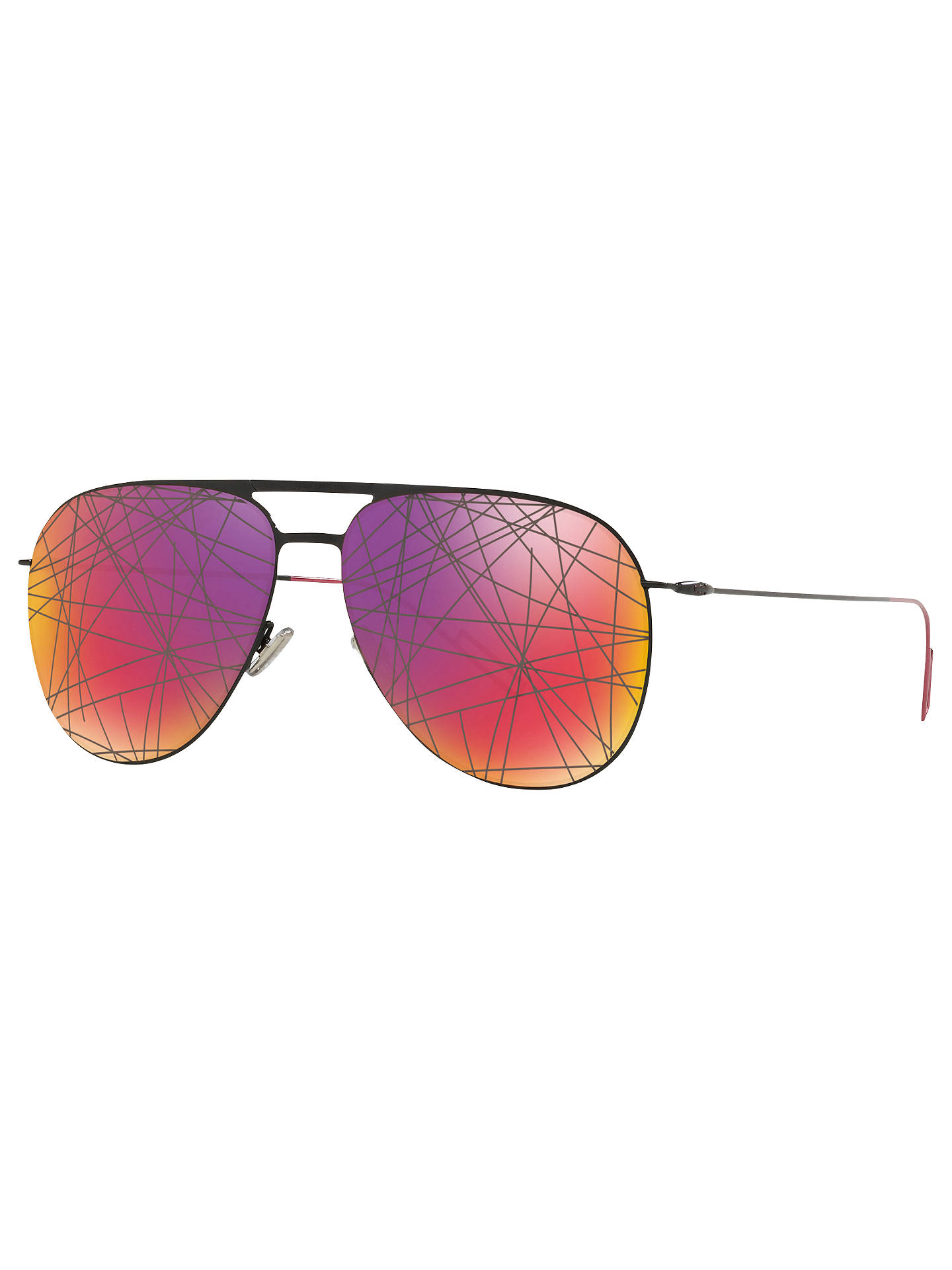 7164840a2b14 Buy Dior Dior0205S Aviator Sunglasses, Black/Multi Online at johnlewis.com  ...