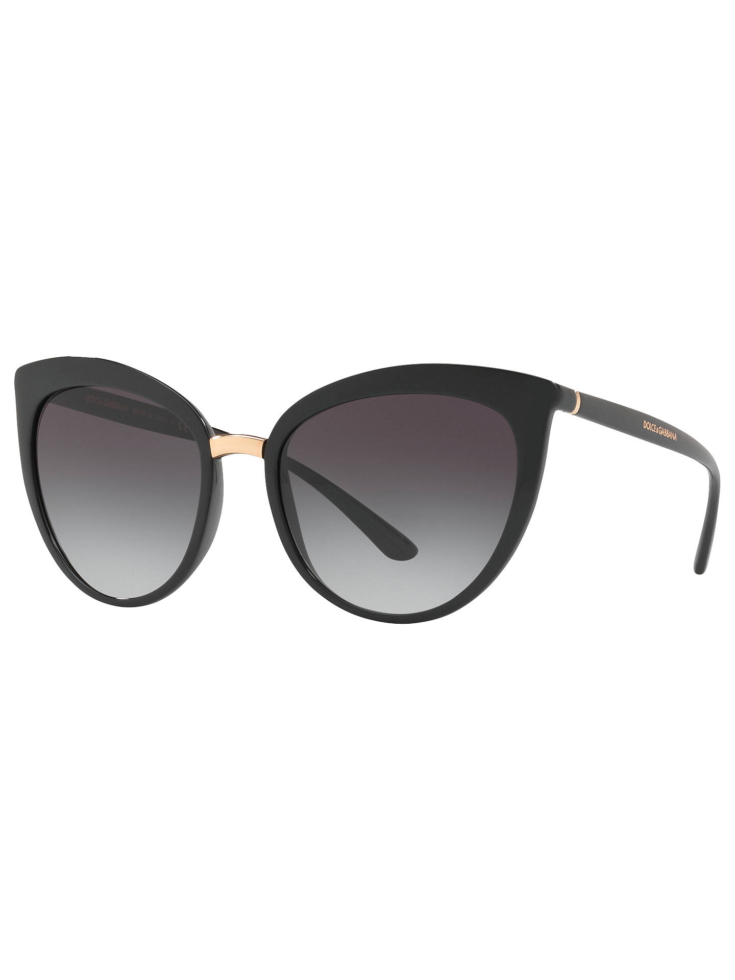 1a86ea301648 Buy Dolce & Gabbana DG6113 Cat's Eye Sunglasses, Black/Grey Gradient Online  at johnlewis ...