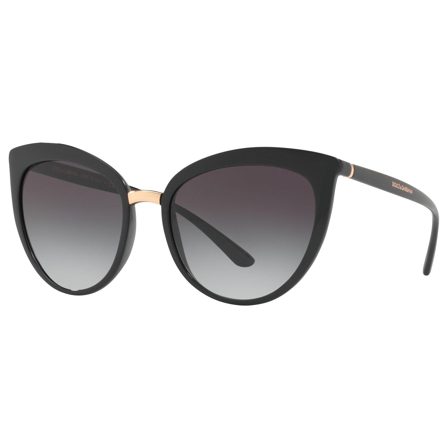 Dolce & Gabbana Dolce & Gabbana DG6113 Cat's Eye Sunglasses, Black/Grey Gradient