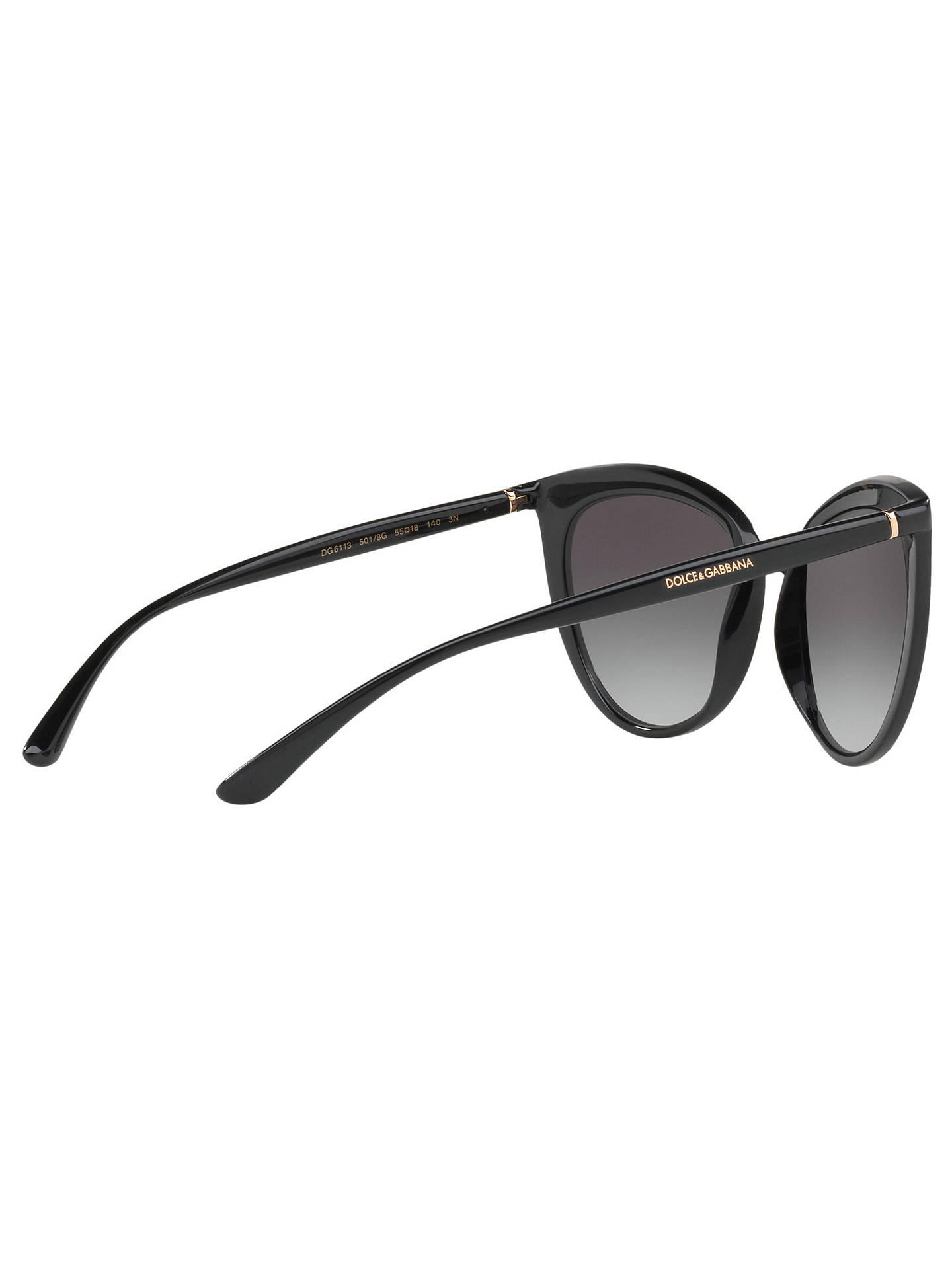 af89c230d134 ... Buy Dolce & Gabbana DG6113 Cat's Eye Sunglasses, Black/Grey Gradient  Online at johnlewis