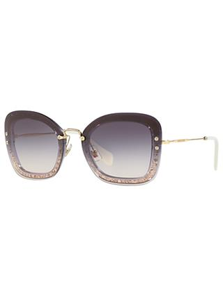 Miu Miu MU 02TS Rectangular Sunglasses