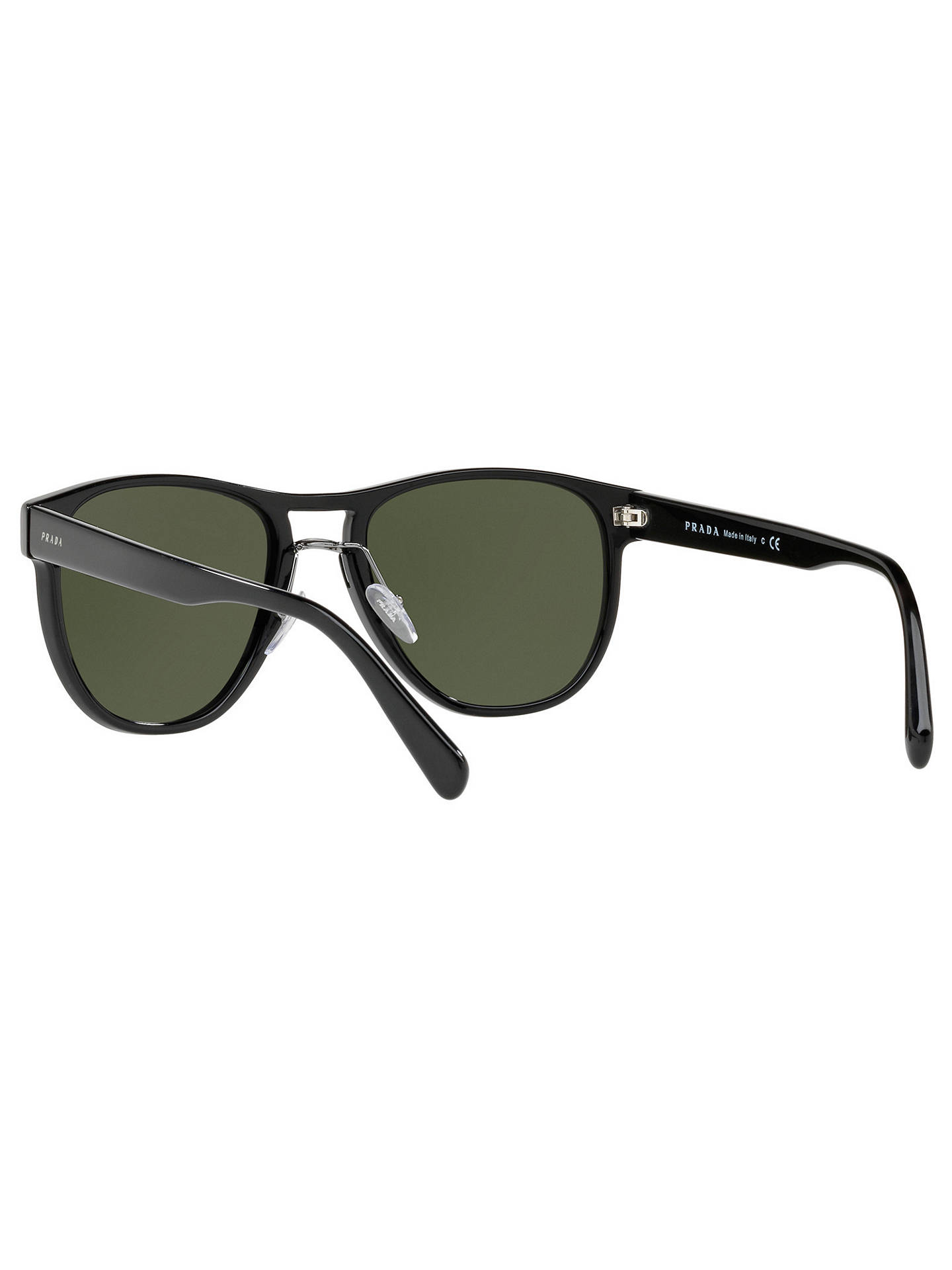 BuyPrada PR 09US Aviator Sunglasses, Black/Green Online at johnlewis.com