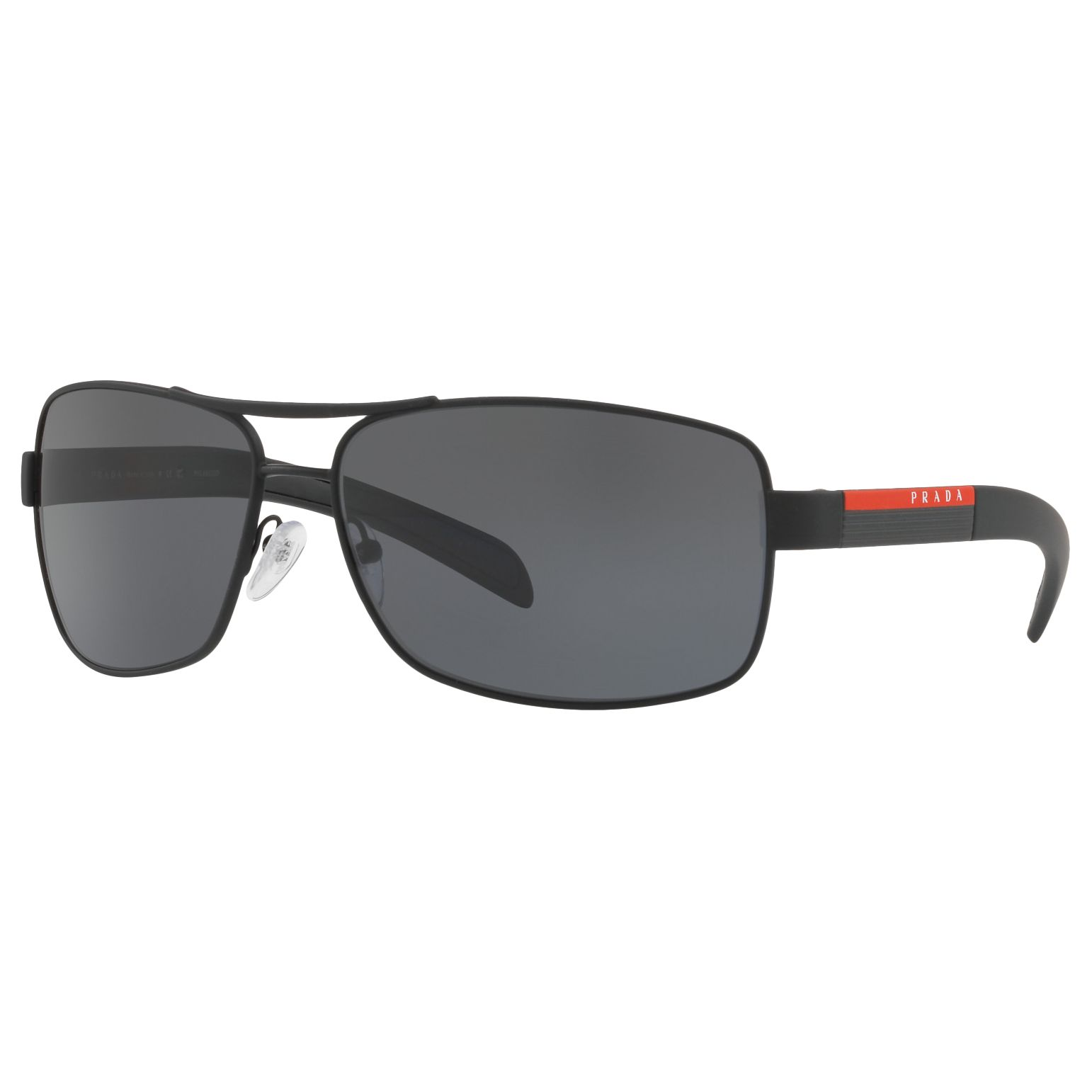06beb3d50e5 Prada Linea Rossa PS 54IS Polarised Rectangular Sunglasses at John Lewis    Partners