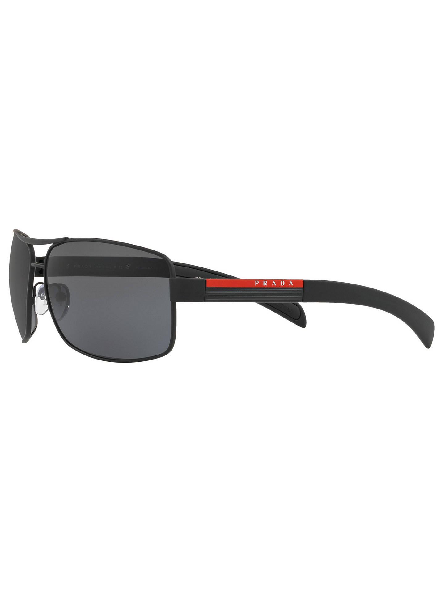 21fc827c5c Prada Linea Rossa PS 54IS Polarised Rectangular Sunglasses at John ...