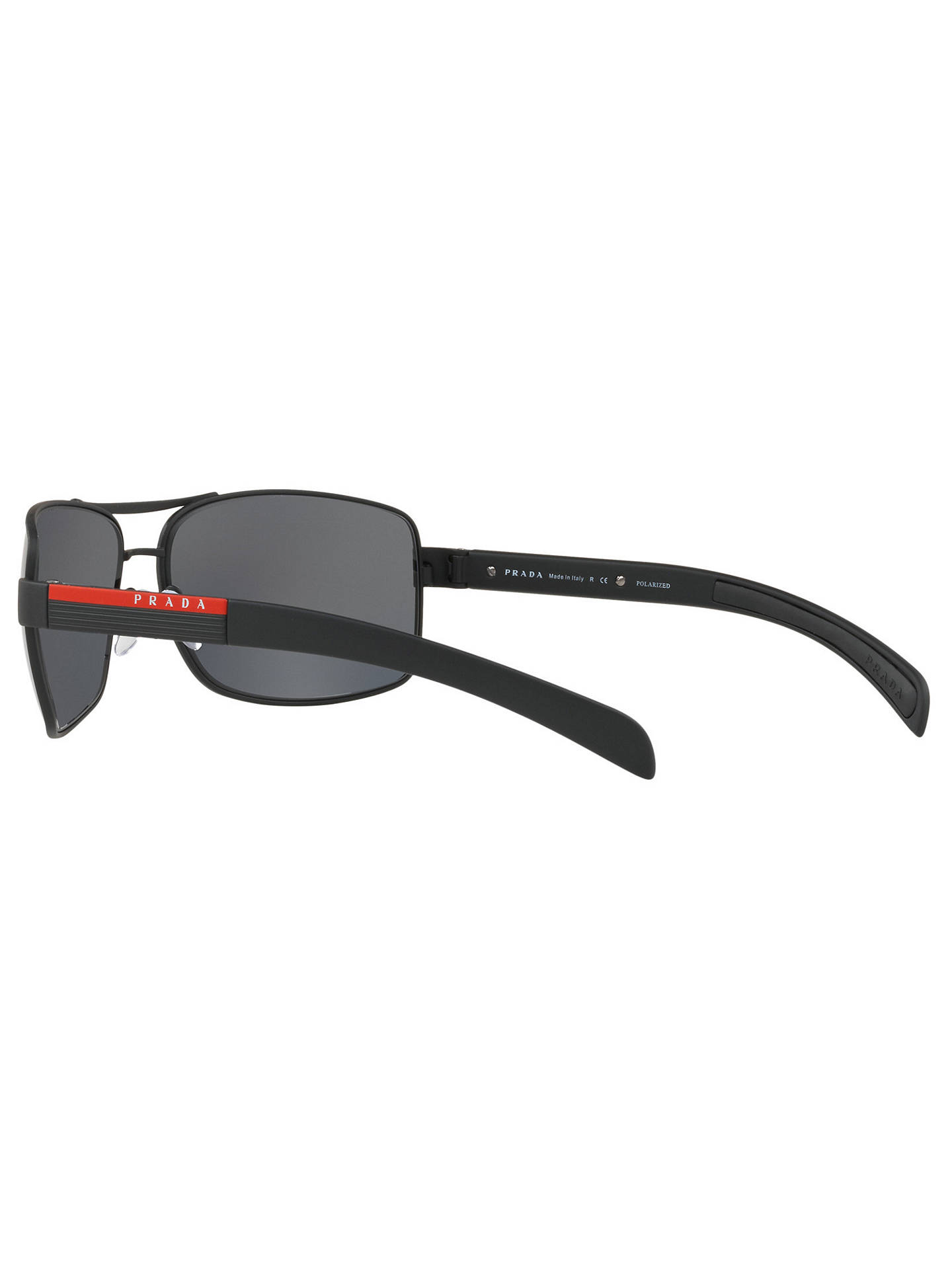 Prada Linea Rossa PS 54IS Polarised Rectangular Sunglasses at John ... d9985b94a522c